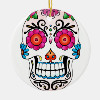 砂糖のスカル-死者の日、入れ墨、メキシコ セラミックオーナメント