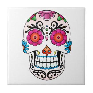 砂糖のスカル-死者の日、入れ墨、メキシコ タイル