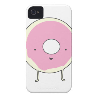 砂糖のテーブルの軽食の菓子のデザートの食糧ピンクドーナツ Case-Mate iPhone 4 ケース