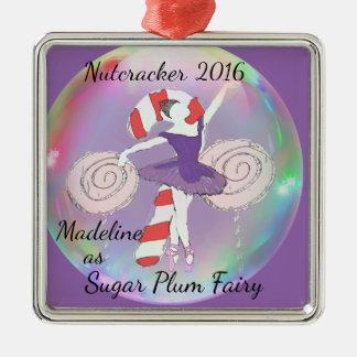 砂糖のプラム妖精のオーナメント メタルオーナメント
