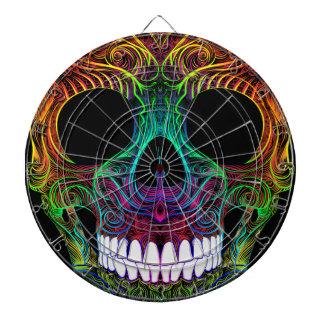 砂糖のSkullすばらしいDia De Los Muertos Candyのスカル ダーツボード