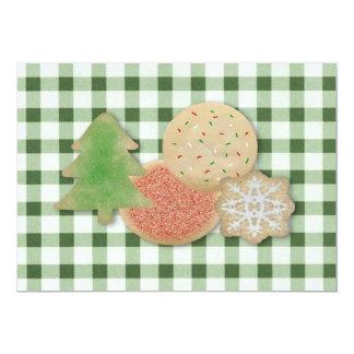 砂糖クッキーのクッキーの交換の招待状 カード