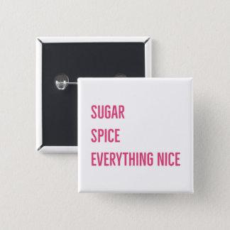 砂糖及びスパイスボタン(ピンク) 缶バッジ