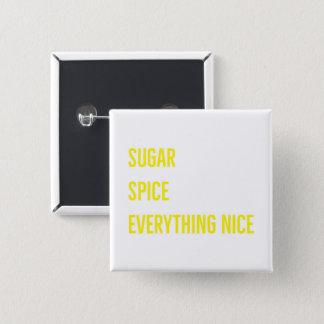 砂糖及びスパイスボタン(黄色) 缶バッジ