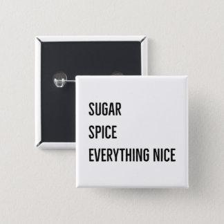 砂糖及びスパイスボタン(黒) 缶バッジ
