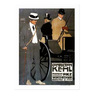 砂糖菓子のKehlの紳士の衣類 ポストカード