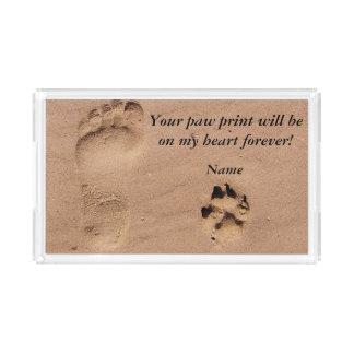 砂Personalizableのペット及び所有者のプリント アクリルトレー