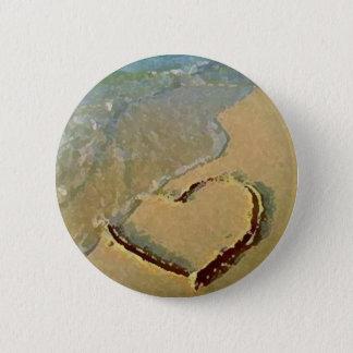 砂Pinの塩辛いハート 5.7cm 丸型バッジ