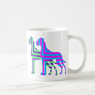 研がれたグレートデーン コーヒーマグカップ