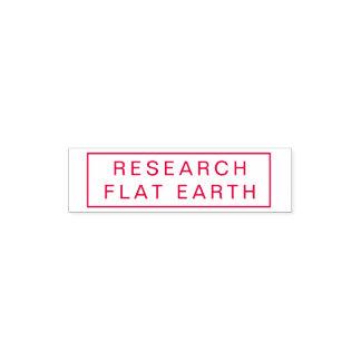 研究の平らな地球赤いインクスタンプ セルフインキングスタンプ