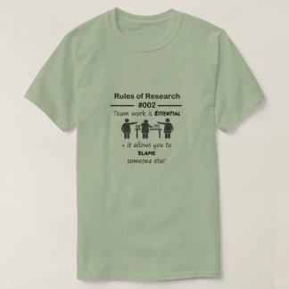 研究の規則002 Tシャツ