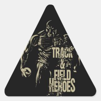 砲丸投げ英雄 三角形シール