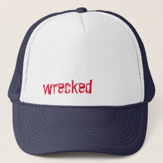 破壊されたトラック運転手の帽子 キャップ