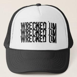 破壊された「Um三ロゴの野球帽 キャップ