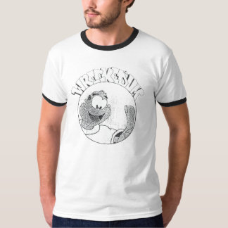 破壊された「Um Melvinの円のロゴのワイシャツ Tシャツ