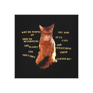 破壊して下さい! ソマリ族猫によって伸ばされるキャンバス キャンバスプリント
