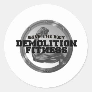 破壊のフィットネスのロゴ ラウンドシール