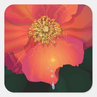 破損の低下の花 スクエアシール