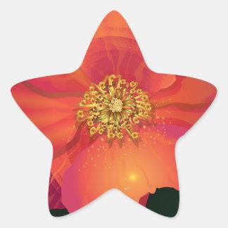 破損の低下の花 星シール