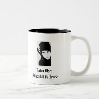 破損、マグ、白または黒の滝 ツートーンマグカップ