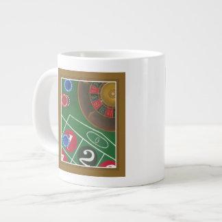 破片および車輪が付いているルーレットのテーブル ジャンボコーヒーマグカップ