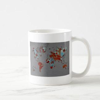 破片のペンキおよび錆の地図 コーヒーマグカップ