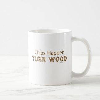 破片は回転木製のおもしろいなWoodturning起こります コーヒーマグカップ