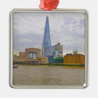 破片、Thames川、ロンドン、イギリス メタルオーナメント