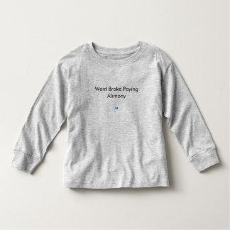 破産する扶助料を支払います トドラーTシャツ