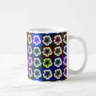 破裂音はマグペチュニアのポップアートの行きます コーヒーマグカップ