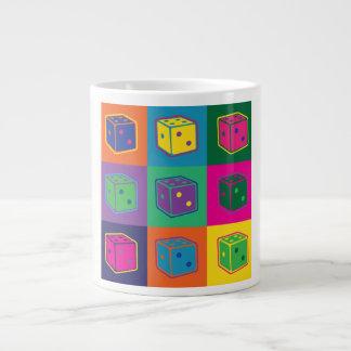 破裂音芸術のサイコロのマグ ジャンボコーヒーマグカップ