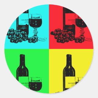破裂音芸術のワインおよびブドウの芸術のギフト ラウンドシール