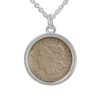 硬貨のネックレス1921年 スターリングシルバーネックレス