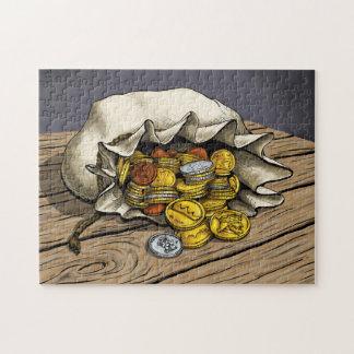 硬貨のパズルのバッグ パズル