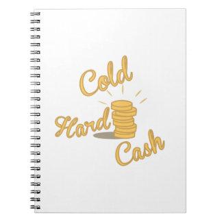 硬貨の現金 ノートブック