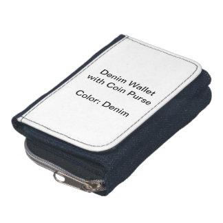 硬貨の財布が付いているカスタムなデニムの財布