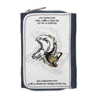 硬貨の財布が付いているデニムの財布(左利きの)