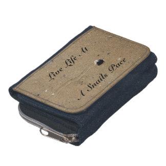 硬貨の財布が付いている生きている生命声明のデニムの財布