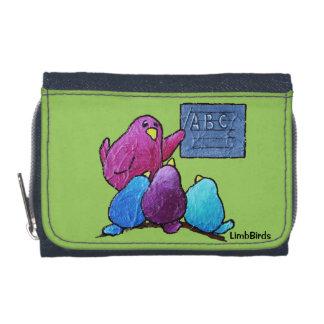 硬貨の財布が付いているLimbBirdsのデニムの財布 ウォレット