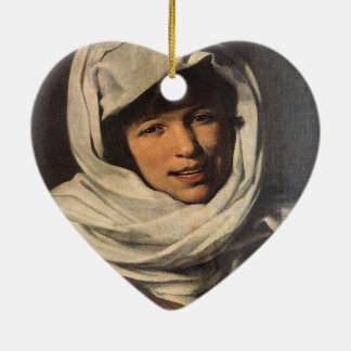 硬貨(ガリチアの女の子)を持つ女の子 セラミックオーナメント