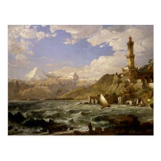 碧玉フランシス島Cropsey -ジェノアの海岸 ポストカード
