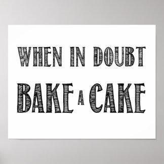 確かでない時は、黒のケーキポスターを焼いて下さい プリント