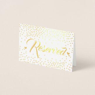 確保される金ゴールドホイルの紙吹雪 箔カード