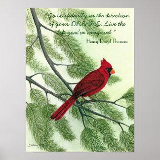 確信をもって行って下さい… -赤く基本的なポスター ポスター