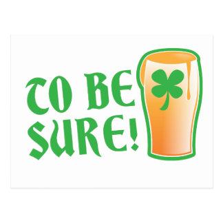 確実があるため アイルランドビールパイント ポストカード