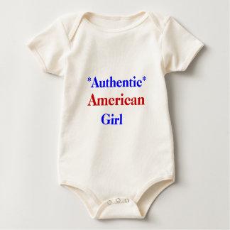 確実なアメリカの女の子 ベビーボディスーツ