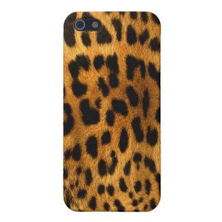確実なヒョウの毛皮の質 iPhone 5 ケース