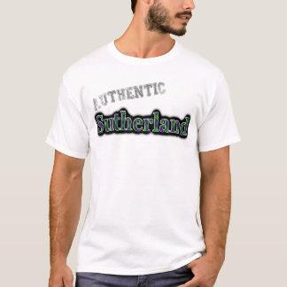 確実な一族のサザランドのタータンチェックの名前のデザイン Tシャツ