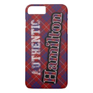 確実な一族のハミルトンスコットランドのタータンチェックのデザイン iPhone 8 PLUS/7 PLUSケース