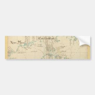 確実な1690人の海賊地図 バンパーステッカー